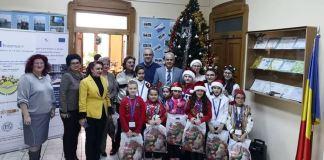 """Grupul artistic """"Nino Nino"""" la Inspectoratul Școlar Județean Brăila, 17 decembrie 2019"""