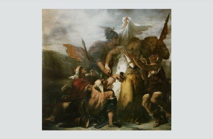 """Gustave Moreau, """"Cântarea cântărilor"""", 1853"""