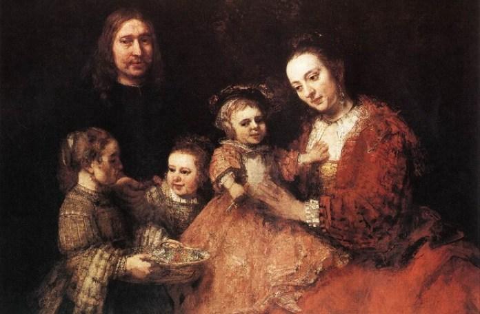 """Rembrandt, """"Portret de familie"""", cca 1668"""