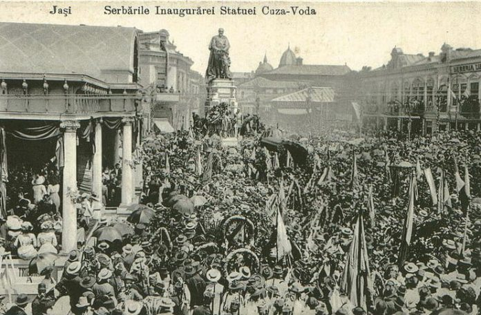 Inaugurarea statuii lui Alexandru Ioan Cuza la Iași, 27 mai 1912