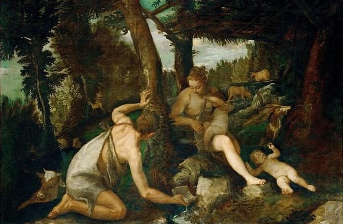 """Paolo Veronese, """"Adam și Eva după alungarea din Paradis"""", 1580 – 1588"""