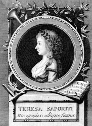 "Teresa Saporiti (1763 – 1869), interpreta rolului Donna Anna la premiera pragheză a operei ""Don Giovanni"", gravură de Ferdinando Fambrini, 1791"