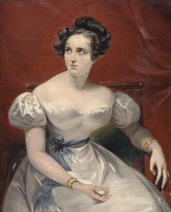 Harriet Smithson (1800 – 1854), portret de Claude-Marie Dubufe (1790 – 1864), 1830