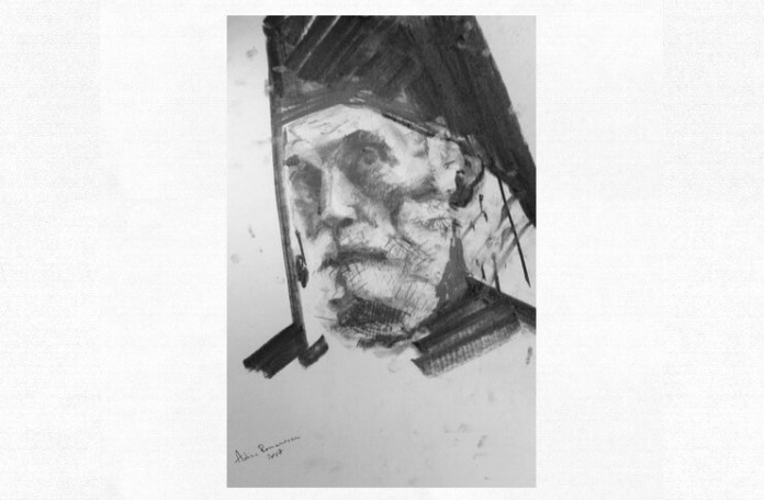 Nicolae Steinhardt, portret de Adina Romanescu, 2017