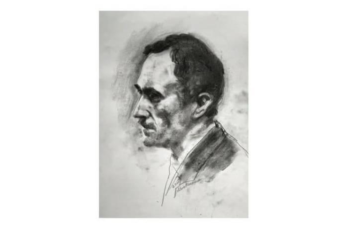 George Bacovia, portret de Adina Romanescu, 19 mai 2020. Inedit