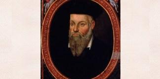 Michel de Nostredame (Nostradamus), portret realizat de filu său, César de Nostredame (1553–1630?)