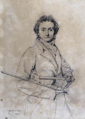 Paganini, portret de Jean-Auguste-Domimique Ingres, 1819