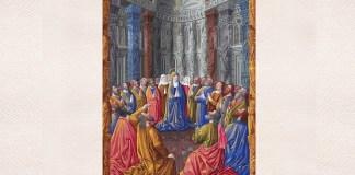 Pogorârea Duhului Sfânt – dintr-un manuscris de secol XV