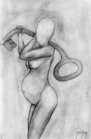 """Rudy Roth, """"Nașterea lui Janus"""", 2008, grafică din vol. """"Geometriile contradictorii ale singurătății"""""""