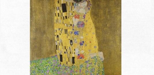 "Gustav Klimt, ""Sărutul"", 1907–1908, Colecția Belvedere, Viena"