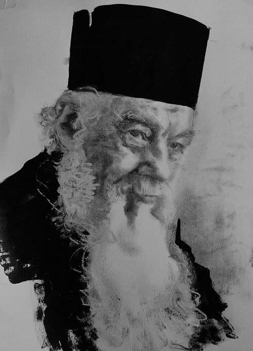 Gheorghe Calciu-Dumitreasa, portret de Adina Romanescu, 18 august 2020. Inedit. Copyright © Adina Romanescu