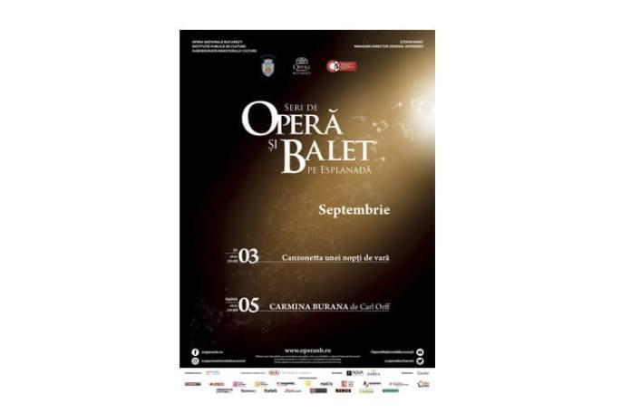 Seri de Opera si Balet pe Esplanada -sapt.3-5 sept. 2020