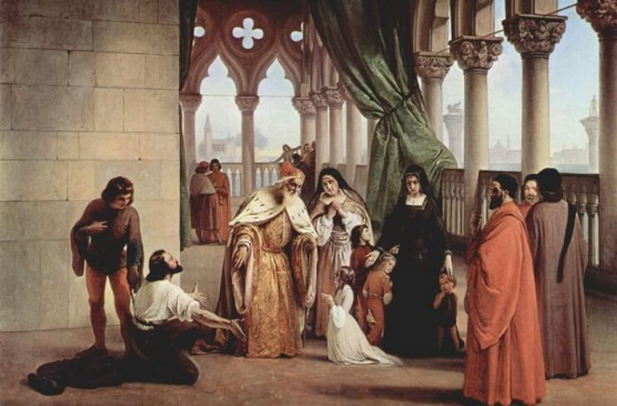 "Francesco Hayez, ""Cei doi Foscari"", 1852–1854"