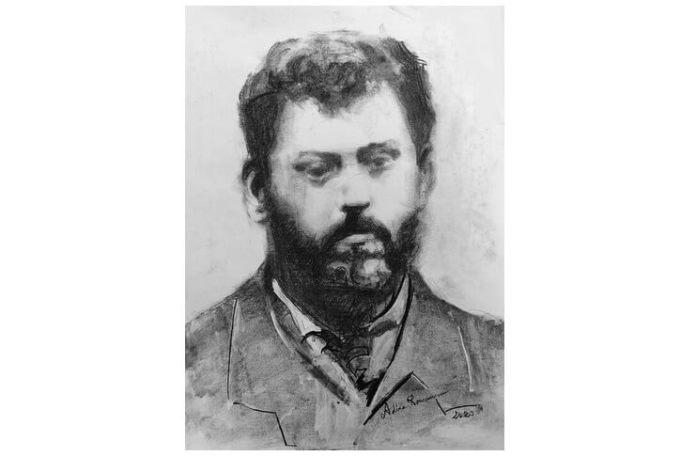 Ion Creangă, portret de Adina Romanescu, 20 iunie 2020