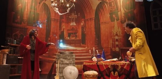 """Vrăjitorul Știe-Tot"". Foto @ Teatrul Excelsior"