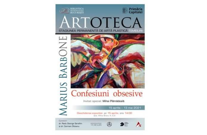 """Afis - """"Confesiuni obsesive"""" la Artoteca BMB"""