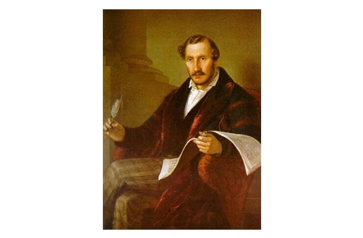 Gaetano Donizetti, portret de Giuseppe Rillosi, 1848