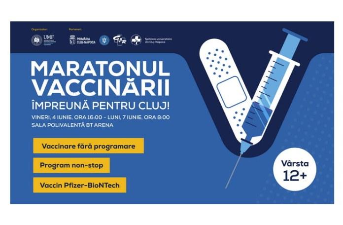 Maratonul Vaccinarii Cluj 4-7 iunie