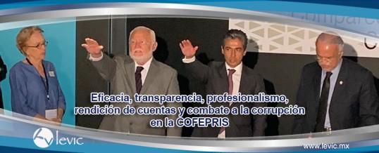 Eficacia, transparencia, profesionalismo, rendición de cuentas y combate a la corrupción en la COFEPRIS