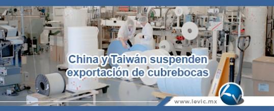 China y Taiwán suspenden exportación de cubrebocas