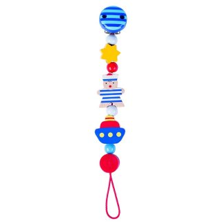 Wooden Sailor Soother Chain by Heimess (763530)   LeVida Baby