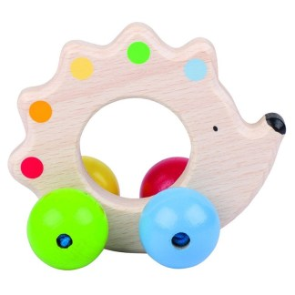Hedgehog Touch Ring - Wooden Baby Toy by Heimess | LeVida Baby