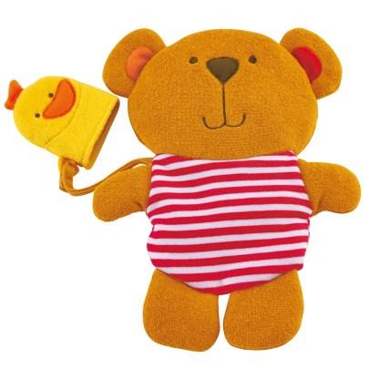 Little Splashers - Teddy & Duck Bath Mitt Set   LeVida Toys