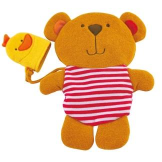 Little Splashers - Teddy & Duck Bath Mitt Set | LeVida Toys