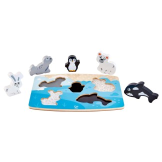 Wooden Hape Polar Animals Tactile Puzzle | LeVida Toys