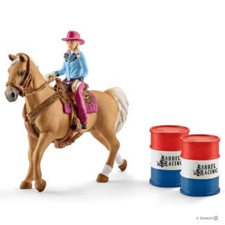 Barrel Racing with Cowgirl (Schleich 41417)   LeVida Toys