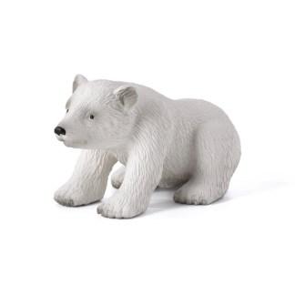 Polar Bear Cub Sitting (Animal Planet 387021) | LeVida Toys