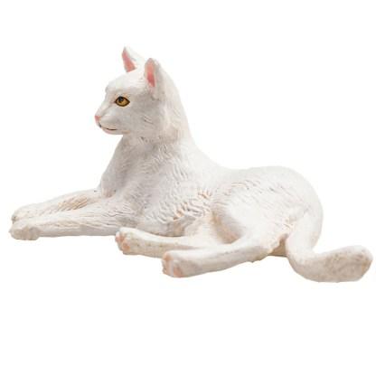 Cat Lying White (Animal Planet 387368)   LeVida Toys