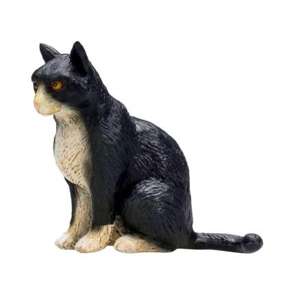 Cat Sitting Black and White (Animal Planet 387371)   LeVida Toys