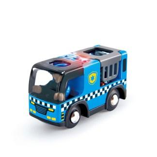 Police Car with Siren for Wooden Railway (Hape E3738) | LeVida Toys