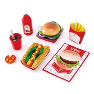Fast Food Set Play Food (Hape E3160) | LeVida Toys