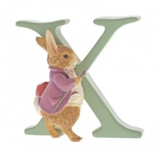 """X"" Old Mr Benjamin Bunny - Peter Rabbit Letter | LeVida Toys"