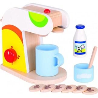Goki: Coffee Machine - Wooden Play Kitchen Set | LeVida Toys