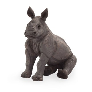 Baby Rhino Sitting (Animal Planet 387257) | LeVida Toys