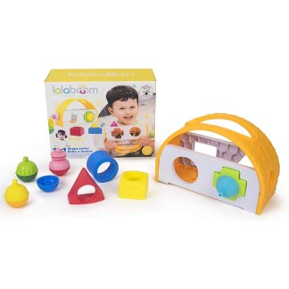 Lalaboom 3 in 1 Shape Sorter Box and Shapes | LeVida Toys