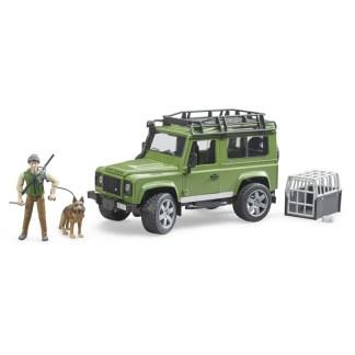 Bruder Land Rover Defender with Forrester and Dog | LeVida Toys