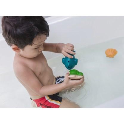 Plan Toys Sea Life Bath Set - 4 wooden bath toys!   LeVida Toys