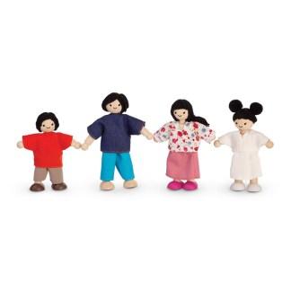 Plan Toys Doll Family (Asian) of four dolls | LeVida Toys