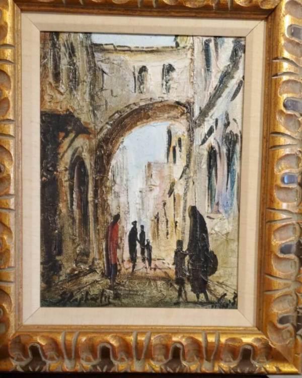 Zvi Raphaeli 12 16 Oil Canvas Framed Jewish