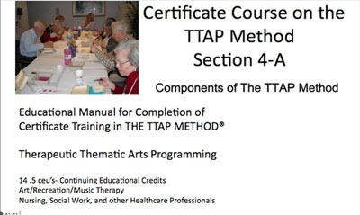 Therapeutic Thematic Arts in Therapy (1 CEU)