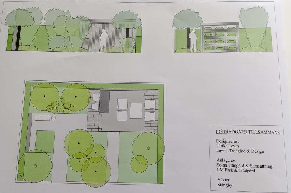 Idéträdgård Tillsammans, designad av trädgårdsdesigner och arkitekt Ulrika Levin.