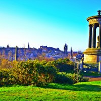 Calton Hill in Edinburgh, UK