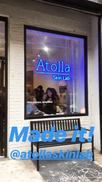Atolla Skin Lab Pop Up Soho