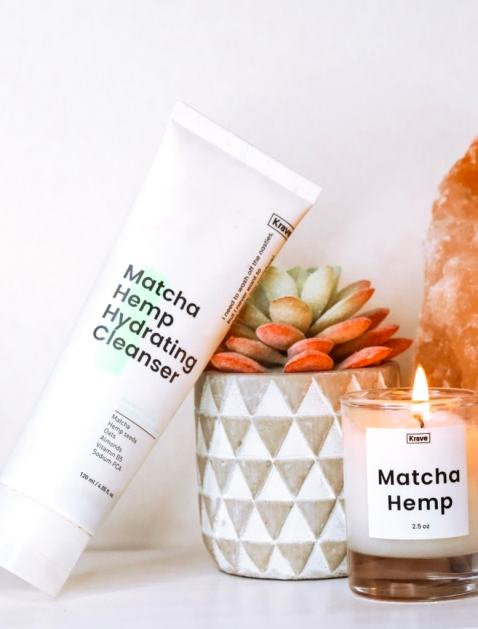 KraveBeauty Matcha Hemp Hydrating Cleanser is a gentle, non-stripping antioxidant cleanser with a skin-friendly low pH.