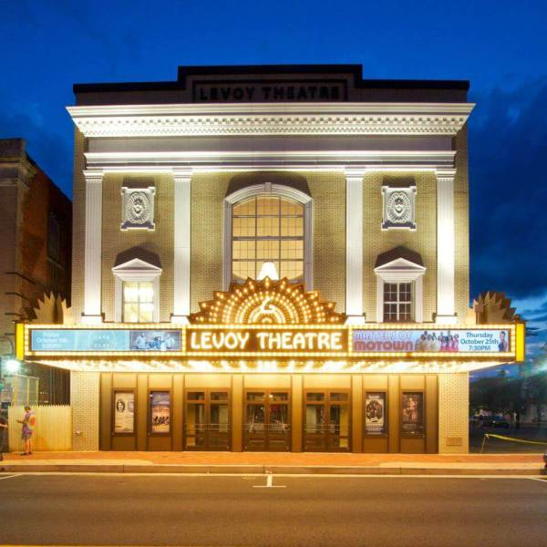 Levoy Theatre Facade And Marquee