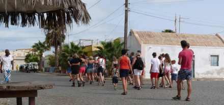 Troupeau de touriste de Palmeira - SAL